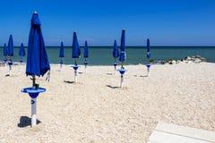 Sandy beach at Porto Recanati, Italy royalty free stock photo