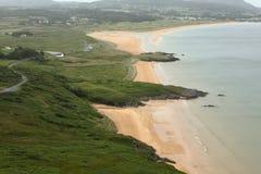 The sandy beach of Portsalon Stock Images
