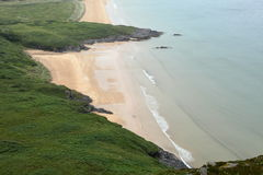 The sandy beach of Portsalon Royalty Free Stock Photo