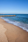 Sandy Beach in Portugal Royalty Free Stock Photos