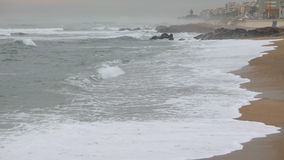 Sandy Beach in Portugal stock video