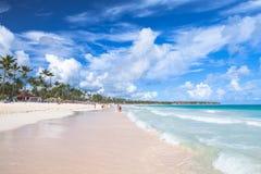 Sandy beach of Punta Cana resort Royalty Free Stock Photo