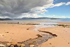 Sandy beach, Redpoint, Wester Stock Image