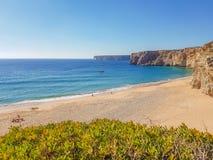 Sandy Beach só no Algarve fotos de stock
