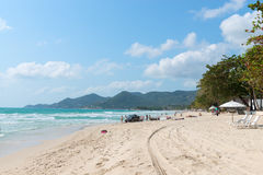 Sandy beach on Samui island in Thailand Royalty Free Stock Photography