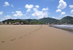 Sandy beach in San Juan del Sur Stock Photo