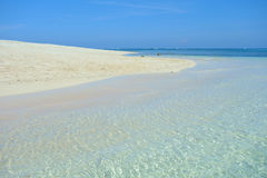 Sandy beach. On the island of Siargao, Philippines royalty free stock images