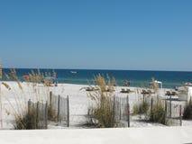 Sandy Beach Scene, praia alaranjada, Alabama Foto de Stock