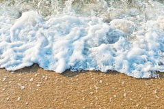 Sandy beach of sea Royalty Free Stock Photo