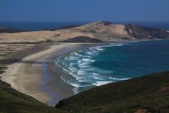 Sandy beach sea stock photos