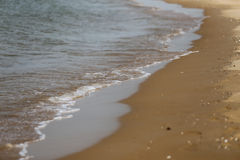 Sandy beach and sea Royalty Free Stock Photography