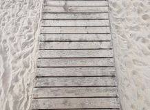 Sandy beach by the sea stock photography