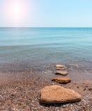 Sandy beach seashore in the morning Stock Photography