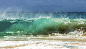 Sandy Beach Shorebreak Royaltyfri Bild