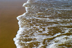 Sandy beach shoreline Stock Photos
