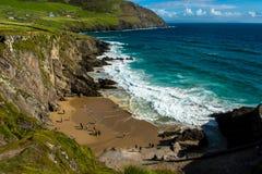 Sandy Beach on Slea Head in Ireland Stock Image