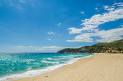 Sandy beach of South coast in Sardinia Stock Photography