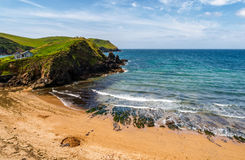 Sandy beach in the South Hams, Devon, United Kimgdom Royalty Free Stock Photos