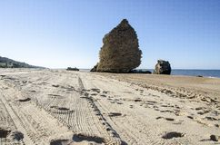 Sandy beach in south Spain, Europe. Beautiful sandy beach in south Spain, Europe Stock Images