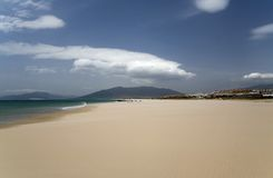 Sandy beach in Spain. Royalty Free Stock Photography