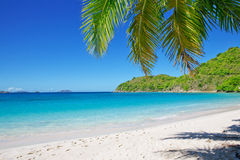 Sandy beach at summer sunny day. Stock Images