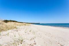 Beach near Katthammarsvik Gotland. Sandy beach a sunny summer day in Gotland near Katthammarsvik Royalty Free Stock Photos
