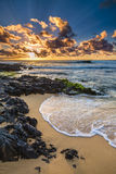 Sandy Beach Sunrise Fotografia Stock Libera da Diritti