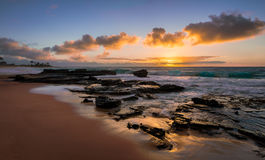 Sandy Beach Sunrise stockbild