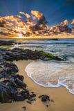 Sandy Beach Sunrise Royalty Free Stock Photography