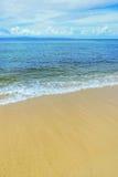 Sandy beach on Taveuni Island, Fiji Royalty Free Stock Photography