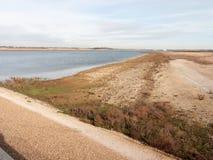 Sandy beach texture dunes coast nature reserve plain background. Shingle; essex; england; uk Royalty Free Stock Photos