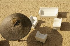 Sandy beach top view Royalty Free Stock Photo
