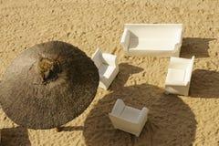 Sandy beach top view Royalty Free Stock Photo
