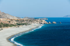Sandy Beach of Trio Petra/Crete Stock Images