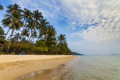 Sandy beach of a tropical island. Koh Chang. Royalty Free Stock Photo