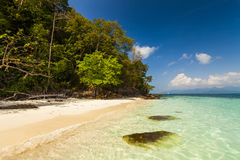Sandy beach of a tropical island. Koh Chang. Stock Photo