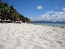 Sandy beach of a tropical island stock photo