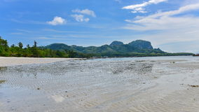 Sandy beach of tropical Koh Mook Island in Krabi Stock Photography