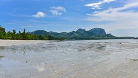 Sandy beach of tropical Koh Mook Island in Krabi Stock Photography