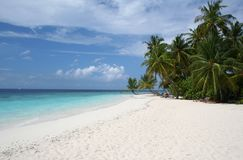 Sandy beach and tropical sea Stock Photo