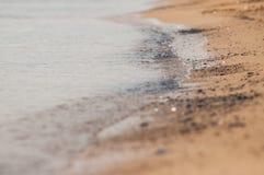 Sandy beach in Tuscany.  Royalty Free Stock Photo