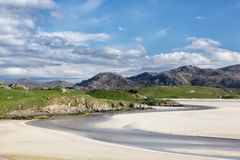 Sandy beach of Uig on Lewis Royalty Free Stock Photo
