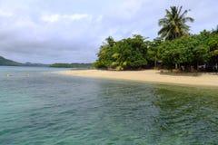 Sandy beach on Vavau island, Tonga Royalty Free Stock Photography