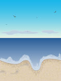 Sandy beach. Vector illustration stock illustration