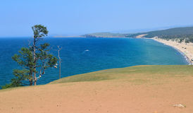 Sandy beach view from above Stock Photography