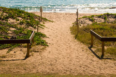 Sandy Beach Walkway Fotografia Stock