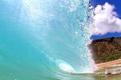 Sandy Beach Wave. A perfect wave at Sandy Beach in Hawaii Stock Photos