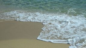 Sandy beach with waves stock footage
