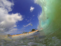 Sandy Beach Waves Hawaii Image libre de droits