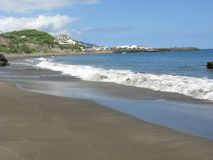 Beach at Ribeira Quente, Sao Miguel island, The Azores Royalty Free Stock Image